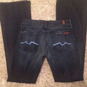 NWOT 7 FOR ALL MANKIND WOMEN'S JEANS TALL SIZE 28